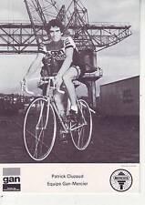 CYCLISME carte cycliste PATRICK CLUZAUD équipe GAN MERCIER 1976