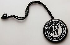 HUBLOT watches genuine BIG BANG vintage black hang tag. Collectible accesory