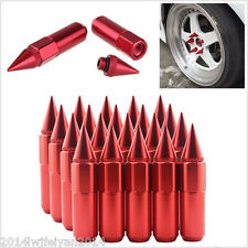 20Pcs JDM 60mm Red Spiked Aluminum Extended Tuner M12X1.5 Wheels/Rims Lugs Nuts