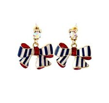 New fashion Beautiful Betsey Johnson navy style bow earrings A159