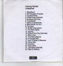 (DE689) Unsung Heroes, Unleashed, 22 tracks various artists - 2000 DJ CD