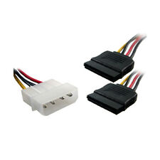 20CM 4 Pin IDE Male Molex to Dual SATA Y Splitter Female HDD Power Adapter Cable
