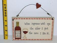 Wine Improves With Age Plaque Sign Christmas Gift Ideas for Friends Mum & Her