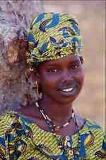 747049 Fulani Girl With Tattooed Lips Wearing Beads Mopti Mali A4 Photo Print