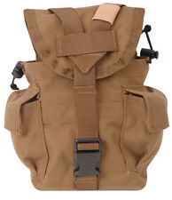 1Qt Canteen Cover Pouch MOLLE Denier Nylon by 5ive Star Gear 6581 - COYOTE BROWN