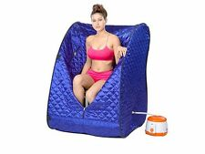 Portable Therapeutic Steam Sauna Spa Full Body Slim Detox Weight Loss Indoor-New