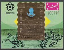 Yemen Kgr 1970 ** Bl.A195 Fußball Football Weltmeisterschaft World Cup Mexiko