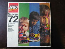 LEGO CATALOGUE   1972 16 PAGES FORMAT 18 X 18 cm