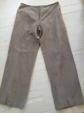 Eileen Fisher Stone Gray Linen Relaxed Fit Cropped Pants S