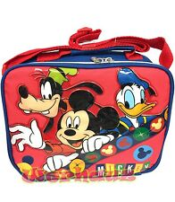 Disney Mickey Mouse Lunch box Goofy Donal Duck Lunchbag, NEW