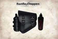 LaRosa Design All Softail Model Left Side Saddle Bag Black Plain w Bottle Holder