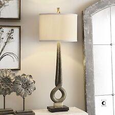 Modern Art Gold Bronze Table Lamp | Sculpture Abstract Tall