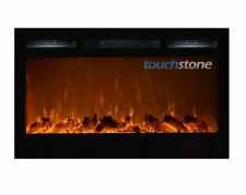 """36"""" Black Electric Fireplace Sideline36™ Recessed Inset/Mounted NEW! Touchstone"""