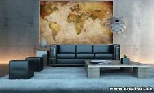 GIANT WORLD MAP POSTER Retrò Vintage Photo decalcomania della parete decor Carta Murale da appendere