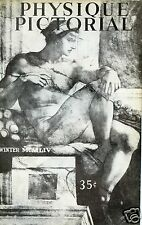 PHYSIQUE PICTORIAL MAGAZINE* WINTER 1954* ROMA ISSUE*MARLON BRANDO*V.4 N.4CAESAR