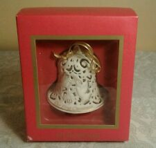 WEDGWOOD OUR FIRST CHRISTMAS BELL ORNAMENT