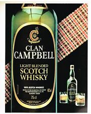 Publicité Advertising 1981 Whisky Clan campbell