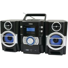 NAXA NPB429 Portable CD/MP3 Player with PLL FM Radio, Detachable Speakers & Remo