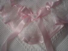 beautiful WHITE/PINK baby girls be-bo christening shawl  *NEW*