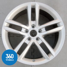 "1 x GENUINE AUDI TTRS 18"" 5 10 DOUBLE SPOKE 9J SILVER ALLOY WHEEL 8J0601025AN"
