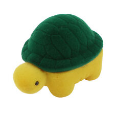 Flannel Coated Turtle Design Wedding Gift Ring Case Box Green Yellow YM