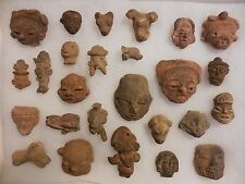 26 Pre-Columbian / Mayan Artifacts - Faces/Effigies - Incl Dragon, Jaguar, Seal