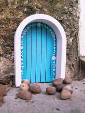 Magical Miniature Tooth Fairy Door Blue Wooden Home Decor Garden Decoration Gift