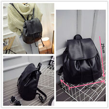 Fashion Women School Shoulder Leather Big Capacity Backpack Travel Bag Rucksack