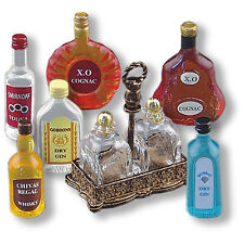 DOLLHOUSE Top Shelf Liquor Set Reutter 1.846/8 Miniature spirits drink NRFB 1:12