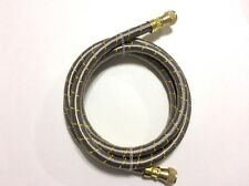 "Propane, Natural Gas 1/2"" Line 4ft Stainless Steel Braided Hose LP LPG"
