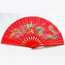High Quality Chinese Tai Chi Martial Arts Kung Fu Bamboo Dragon Phoenix Fan XT