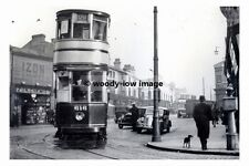 a0167 - Birmingham Tram no 616 at Hockley in 1939 - photograph