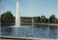 Alte Postkarte - Stuttgart - Wasserspiele vor dem Neuen Schloß