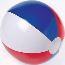 "3 RED WHITE AND BLUE BEACH BALLS 12"" Pool Party Beachball NEW #AA3 Free Ship"