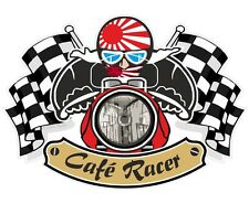 Japanese RISING SUN Flag CAFE RACER Ton Up Club Retro motorbike helmet sticker