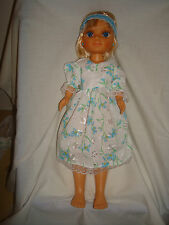 "Blue embroidery Anglais dress,  Fit Nancy or other slim 14"" Dolls"