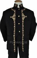 Boys Suits 3 Piece Prince Suit Black Gold Wedding Pageboy Suits 12 mths - 9 yrs