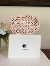 Tory Burch Lace Cosmetic Case Makeup Pouch Toiletry Bag New in Box