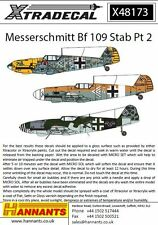 Xtradecal 48173 Decals 1/48 Messerschmitt Bf-109s with Stab markings Pt 2 (14)