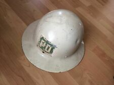 WWII US MILITARY WHITE METAL  HELMET SHELL HAT