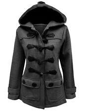 Damen Jacke Mantel Winterjacke Kapuze Dufflejacke Hoodie Dufflecoat Fleece Tops