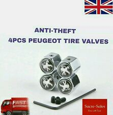 Peugeot Anti Theft Alloy Car Wheel Tire Tyre Valve Dust Cap Cover Tire Set of 4