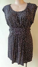 Flower size 16 black print tie back sleeveless summer dress or top