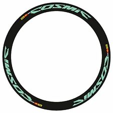 MAVIC COSMIC CARBONE SL OR SLR IN BIANCHI CELESTE COLOR  RIM DECAL SET FOR 2 RIM