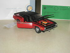 RARE ARTIST PROOF PREPRODUCTION 1/24 Franklin Mint Red 1970 AAR CUDA Plymouth