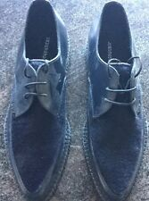 MENS DESIGNER UNDERGROUND NAVY BLUE PONY HAIR BARFLY CREEPERS