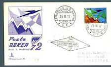 SAN MARINO - PA - 1972 - Aereo e Monte Titano stilizzati