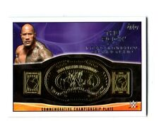 WWE The Rock 2015 Topps IC Championship Commemorative Belt Plate Relic Card