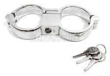 NEW BDSM High Security Bondage 'Turbo' Heavy Handcuffs Wrist Cuffs - Large 7.5""