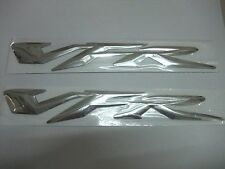2Pcs VFR 3D Raised Sticker Decals Chrome Silver